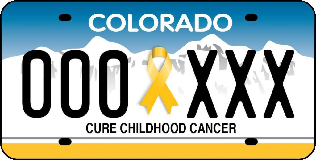 Cure Childhood Cancer License Plate | Morgan Adams Foundation