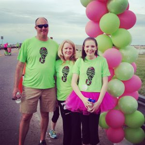Jeff, Karen, and Grace Petroff at Grace's Race 2015